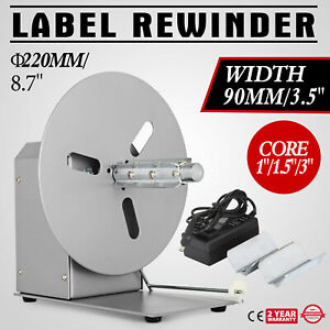 Label Tags Rewinder Rewinding Machine Automatic 220mm 8 7inch Alloy Steel