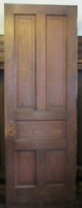Nice Early 1900 5 Panel Oak 30 X 80 X 1 3 4 One Side Stained One Side Painted