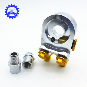 Aluminum An10 Oil Cooler Adapter Sandwich Turbo With Thermostat And Fitting 3 4