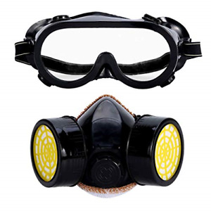 Holulo Respirator Full Face Safety Mask With Goggle Anti dust Paint Respirator