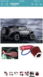 Universal Car Cold Air Intake Filter Alumimum Induction Kit Pipe Hose System Sil