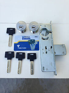 Adams Rite Type Storefront Door Lock With 2 Multilock Cylinders
