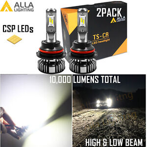 Alla Lighting Super Bright Led 9007 White Hd Light Bulb Direct Replacement Lamp
