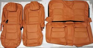 2016 2019 Chevrolet Camaro Coupe Orange tan Leather Upholstery Seat Cover Set