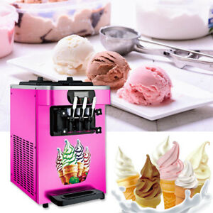 110v 18l h Soft Ice Cream Cones Making Machine Commercial Maker Wide Lcd Display