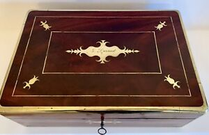 Superb Georgian Gentleman S Fully Fitted Mahogany Dressing Case 1827 Brass Bound