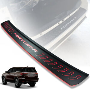 Toyota Fortuner Sw4 2015 2018 Black Rear Bumper Tailgate Guard With Led