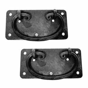 2 Cabinet Drawer Door Pull Black Wrought Iron Mission 4 Renovator S Supply