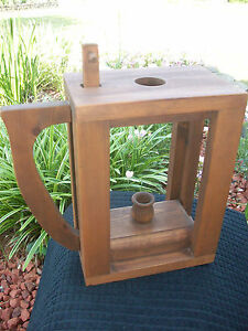 Shaker Primitive Country Style Handcrafted Wood Candle Box Candle Holder