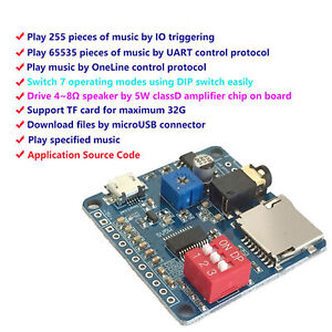 New Voice Playback Module Board Mp3 Music Player Sd tf Card For Arduino