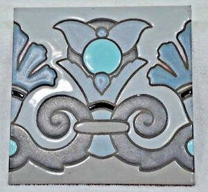 Vintage Ceramic Art Tile Made In Italy 6 X 6 4