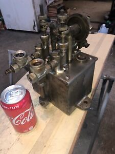 Antique Hills Mccanna Dual Feed Oiler Ratchet Driven Mechanical Lubricator Steam