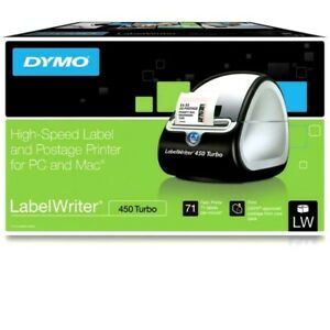 Dymo Labelwriter 450 Turbo Thermal Label Printer 1752265 With Accessories
