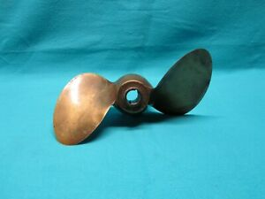 Vintage Michigan 2 Blade Brass Boat 10 Propeller Ajc 48b