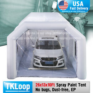 26x13x10ft Portable Inflatable Paint Spray Booth In Usa Custom Tent Car Paint