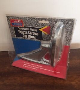 On The Road Universal Oblong Chrome Ball Socket Car Side Mirror Replacement