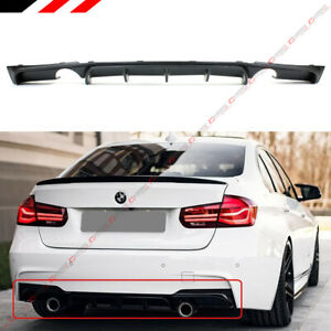 For 2012 18 Bmw F30 F31 M Sport Mp Style Dual Exhaust Tip Rear Bumper Diffuser