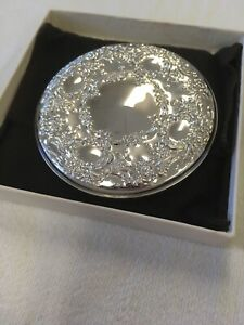 Towle Sterling Silver 925 Vanity Compact Hand Mirror Art Nouveau