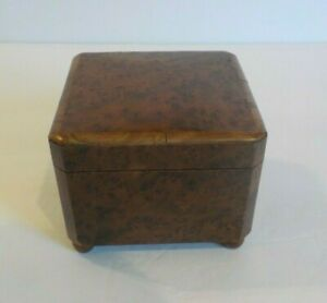 Antique Swiss Burl Walnut Miniature Music Box C Early 1900 S