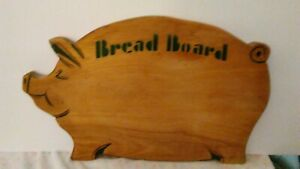 Vintage Pig Cutting Board About 15 By 9 3 4 Thick Wooden Hog Nice