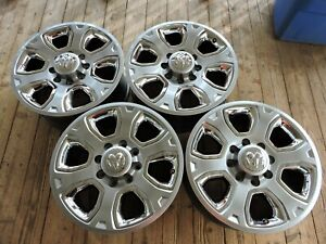 Exc Set Factory Oem 20 Dodge Ram 2500 3500 Laramie Chrome Wheels Rims 8x165