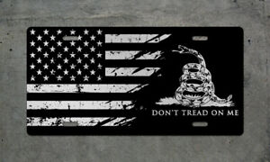 American Flag Don t Tread License Plate Usa Dtom Tag Wall Sign Military Army