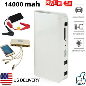14000mah Car Jump Starter Auto Booster Kit Emergency Battery Charger Power Bank
