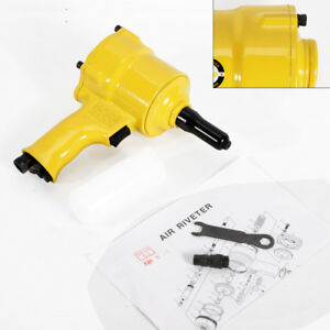 New Pneumatic Air Hydraulic Pop Rivet Gun Riveter Riveting Tool 1 4 Free Ship