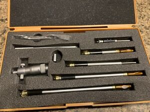 Mitutoyo Id Inside Micrometer Set No 141 108 W Case 2 8 Inches