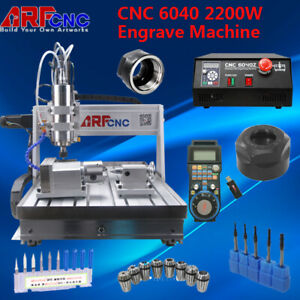 4 Axis 6040 Engraving Cnc Router Engraver Carving Milling Machine Teaching Hobby