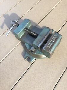 Vintage Industrial Palmgren Radial Drill Press Milling Machinists Swivel Vise