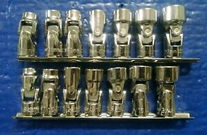 Lowes Kobalt 3 8 Drive 12 point Flex Socket Sets Standard And Metric Brand New