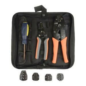 Crimping Tool Kit Wire Heavy Duty Stripper Cutter Cable Handheld Screwdriver