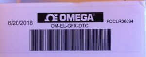 Omega Portable Temperature Data Logger Om el gfx dtc With Graphic Display New
