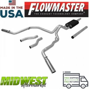 Flowmaster Cat Back Exhaust System Fits 1987 1996 Ford F 150 3 6l 5 0l 5 8l