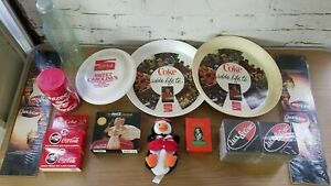 Lot of Coca-cola Memorabilia Cameras Calendar Jack & Coke Table Folds Coasters