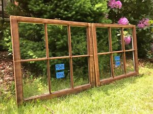 2 27 X 25 Matching Vintage Window Sash Old 6 Pane From 1970s Arts