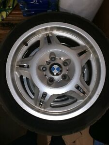 Bmw Ltw 97 M3 Wheels Tires Rims Staggered Rare Style 24 Oem Authentic Set Of 4