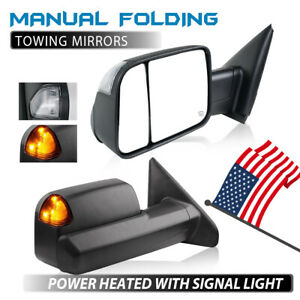 Fit 02 08 Dodge Ram 1500 03 09 2500 3500 Power Heated Signal Towing Mirrors Pair