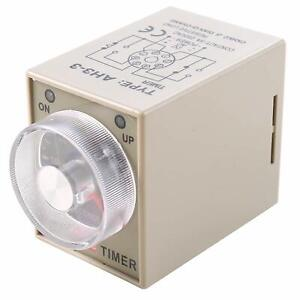 Ac 24v 8 Terminals Range Adjustable Time Delay Relay Switch Timer With Sock Base