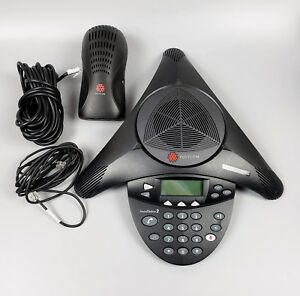 Polycom 2201 16000 601 Non expandable Sound Station 2 Conference Phone tested