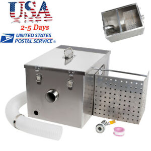 Grease Trap Interceptor Set For Restaurant Kitchen Wastewater Removable Baffles