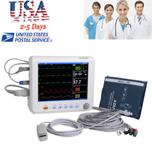 Medical Blood Pressure Icu Ccu Patient Monitor 6 Parameter Nibp spo2 pr Hospital