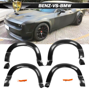 Fits 15 19 Dodge Challenger Hellcat Style Fender Flares Unpainted Pp