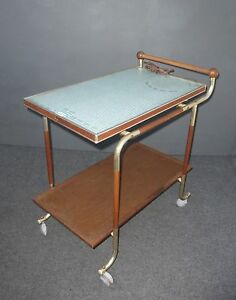 Vintage Mid Century Modern Tea Cart W Heating Pad By Salton