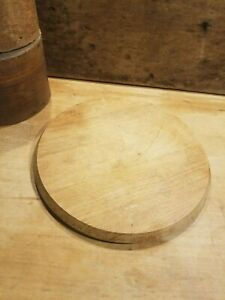 Primitive Old Vintage Round Beveled Cutting Board With Finger Grip Mid 1900 S