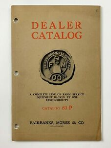 Fairbanks morse Hit And Miss Gas Engine Dealer Catalog 80 P Type Z Engines Nice