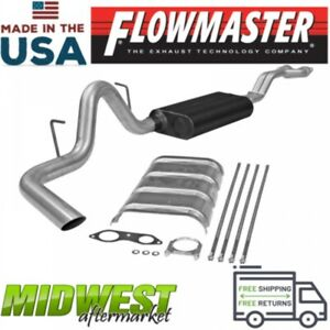 Flowmaster Cat Back Exhaust System Fits 1996 1999 Gm Tahoe Yukon 5 7l 4 Door