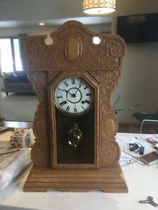 Vintage Gingerbread Clock Waterbury Key