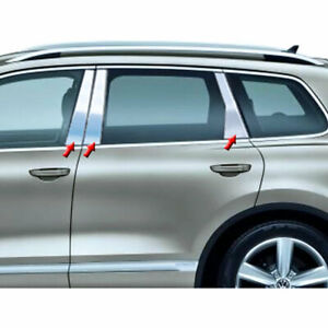 Stainless Pillar Post Trim Fit For 2011 16 Volkswagen Touareg Luxfx2251